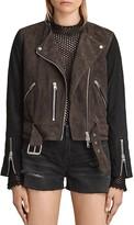 AllSaints Jensen Color-Block Suede Biker Jacket