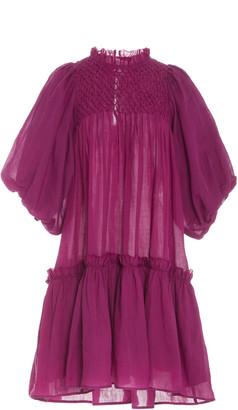 Sea Geneva Ruched Cotton-Voile Dress