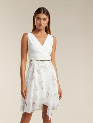 Forever New Helen Two-in-One Dress - Porcelain Bloom - 10