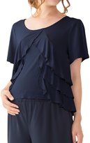 Sweet Mommy Maternity and Nursing Triple Ruffle Layered Top NVM