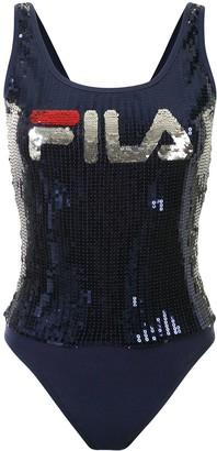 Fila Sequin-Embellished Bodysuit