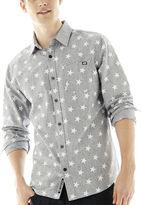 Ecko Unlimited Unltd. Long-Sleeve Star-Print Chambray Shirt