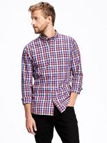 Old Navy Slim-Fit Classic Plaid Shirt for Men