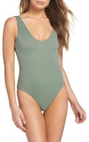 Leith Women's Plunge Reversible One-Piece Swimsuit