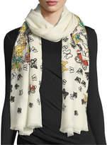 Janavi Embellished Butterfly Wool Stole