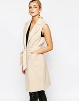 Boohoo Belted Sleeveless Coat