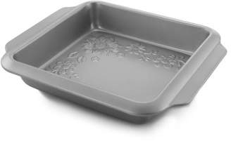 Gibson Home Country Kitchen 8 Inch Embossed Nonstick Square Cake Pan