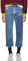 B Sides Indigo Large Two Patch Jeans