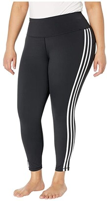 adidas Plus Size Believe This Stripe 7/8 Tights (Black/White) Women's Casual Pants