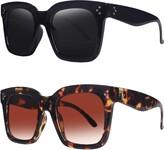 Thumbnail for your product : TAOTAOQI Vintage Women Oversized Sunglasses Designer Luxury Square Sun Glasses UV400 Protection Flat Lens Size: XL-large