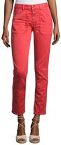 BA&SH Cmarc High-Rise Pants, Red