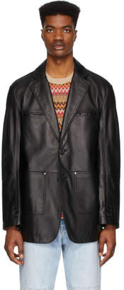 ANDERSSON BELL Black Lambskin New Daddy Classic Jacket