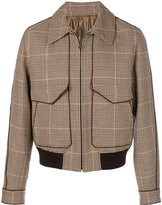 Wooyoungmi classic collar plaid bomber