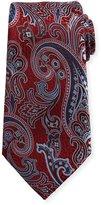 Ermenegildo Zegna Silk Paisley Tie, Red