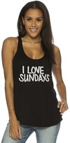 Peace Love World I Love Sundays Boyfriend Tank