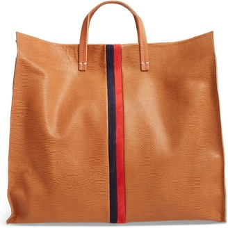 Clare Vivier Simple Lizard Embossed Leather Tote