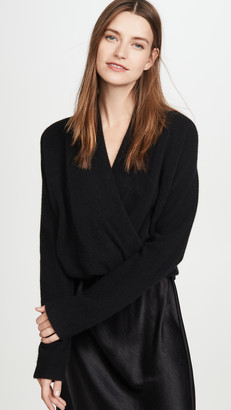 Vince Wrap Front Cashmere Pullover