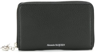 Alexander McQueen logo zipped wallet