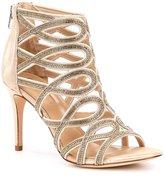 Antonio Melani Pagee Chainstone Detial Metallic Leather Dress Sandals