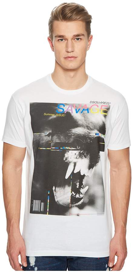 DSQUARED2 Screen Print Dyed T-Shirt
