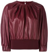 Drome pleated cropped blouse