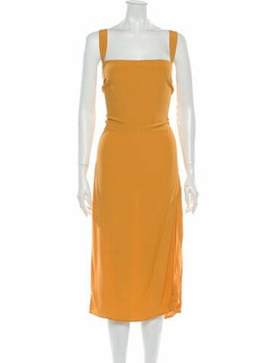 Reformation Square Neckline Midi Length Dress w/ Tags Yellow
