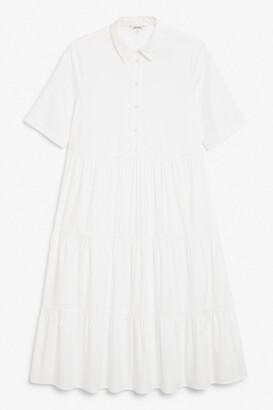 Monki Layered flounce dress