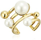 Kate Spade Bits and Baubles Faux Pearl Statement Ring, Size 7