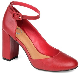 Journee Collection Raveen Ankle Strap Pump