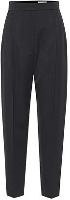 Alexander McQueen High-rise wool tapered pants