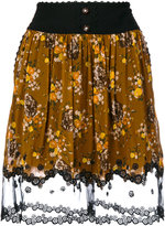 Coach floral-print skirt - women - Nylon/Polyester/Cupro - 4