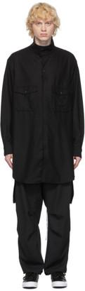 Y-3 Black Wool Flannel Classic Shirt