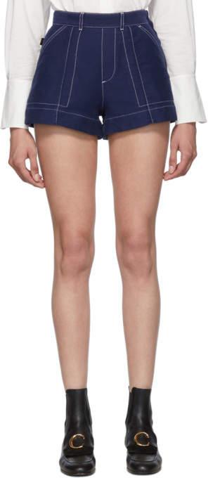 Chloé Blue A-Line Shorts
