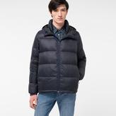 Paul Smith Men's Navy Nylon Hooded Down Jacket