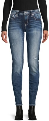 Miss Me Skinny-Fit Distressed Jeans