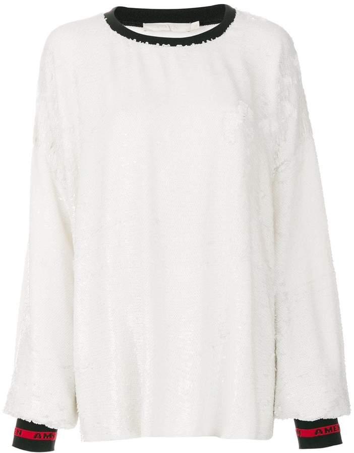 Amen sequined sweatshirt