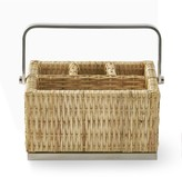 Williams-Sonoma Williams Sonoma AERIN Woven & Silver Flatware Caddy