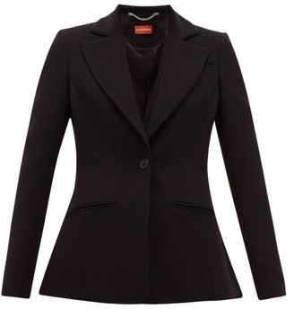Altuzarra Acacia Single-breasted Crepe Blazer - Womens - Black