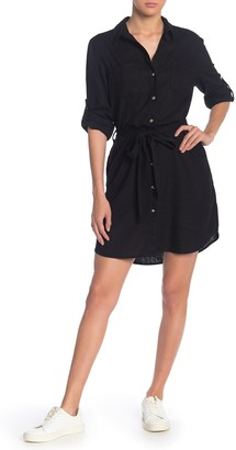 Velvet Heart Anita Button Down Linen Blend Shirt Dress