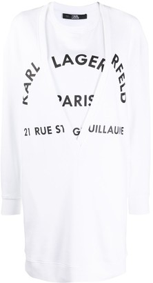 Karl Lagerfeld Paris Logo-Print Sweatshirt Dress