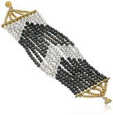 Panacea Chevron Beaded Magnetic Bracelet