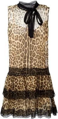 RED Valentino Leopard Print Flared Dress