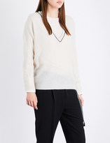 Brunello Cucinelli Beaded-detail knitted jumper