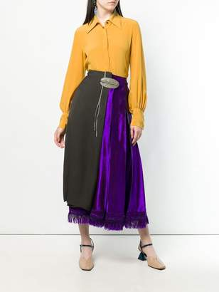 Marni asymmetric wrap front skirt