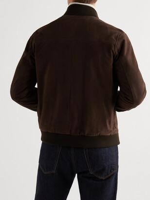 Valstar Valstarino Slim-Fit Suede Bomber Jacket