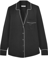Equipment Keira Washed-silk Shirt - Black