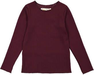 Teela Nyc Rib Basic Girl T-Shirt