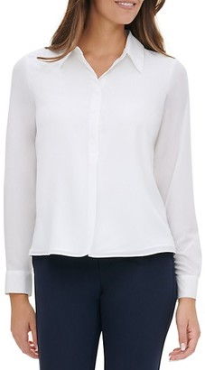 Tommy Hilfiger Long-Sleeve High-Low Shirt