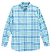 Vineyard Vines Sandspar Plaid Whale Flannel Shirt