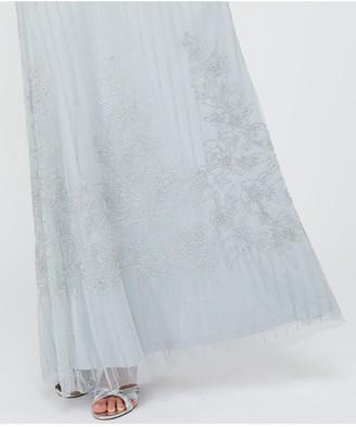 Monsoon Bella Embellished Maxi Dress - Blue
